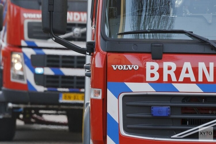 Container in brand in haven Wieringerwerf