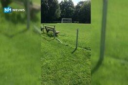 Voetbalveld Nieuwe Niedorp blijkt doelwit van vandalen: drie keer in korte tijd