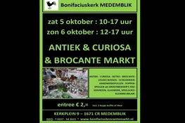 Antiek en Curiosamarkt op 5 en 6 oktober in Bonifaciuskerk