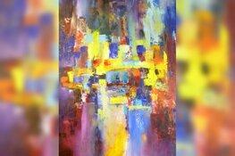 Lessen abstract schilderen in De Keesschuur