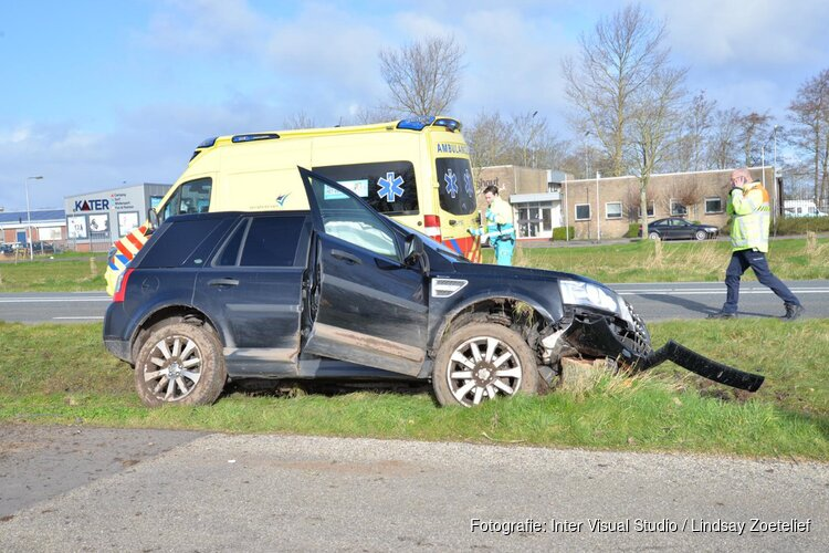 Twee gewonden bij eenzijdig ongeval