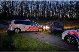 In Breezand gestolen auto in Anna Paulowna klem gereden